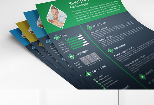 Free infographic resume psd template