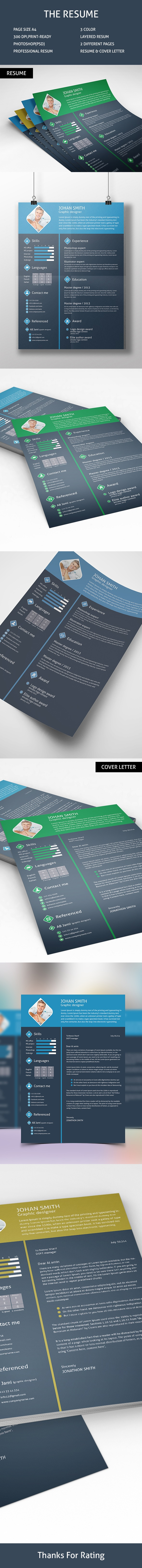 Free Resume PSD Download