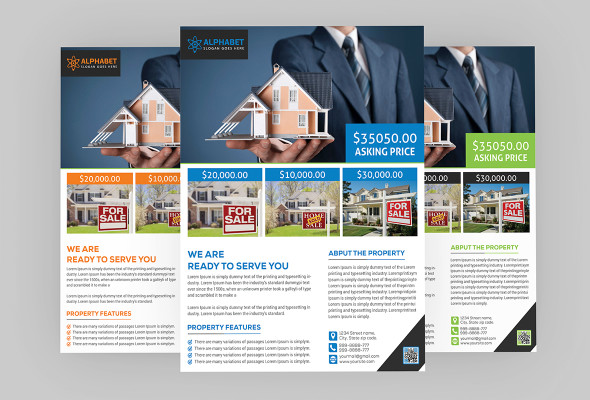 Real Estate Flyer PSD Template Free Download Coding Bank - Real estate brochure template free download