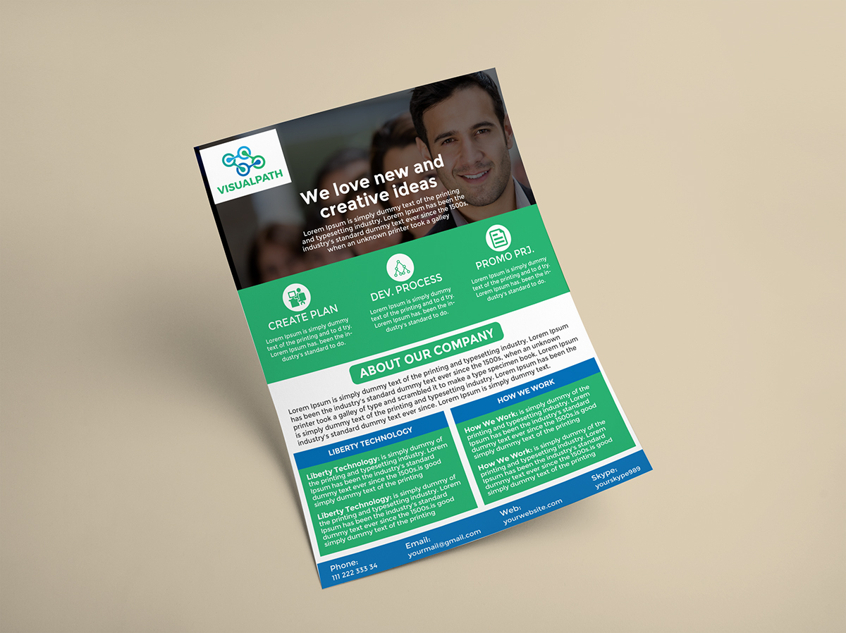 A4 Corporate Business Flyer 1
